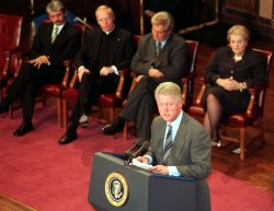 Clinton speaks at Georgetown University