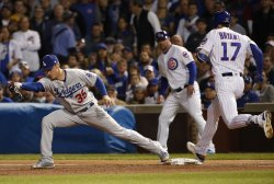 Cubs Bryant grounds out in fourth in the NLCS