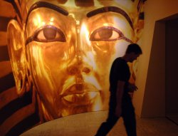 ":TUTANKHAMUN AND THE GOLDEN AGE OF THE PHARAOHS"" EXHIBIT"