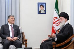 Turkish President Abdullah Gul meets with Iran's Leader Ayatollah Khamenei in Tehran