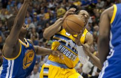 NBA First Round Playoffs Game One Golden State Warriors vs Denver Nuggets in Denver