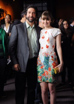 "David Schwimmer and Liana Liberato attend the premiere of ""Trust"" in Los Angeles"