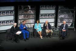 The Newseum holds a panel discussion on the 40th anniversary of the moon landing in Washington
