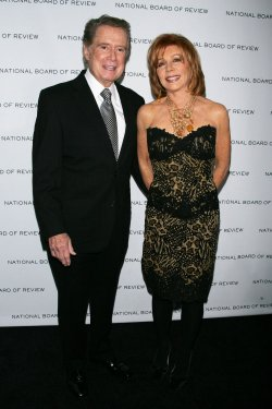 Regis Philbin and wife Joy arrive for the National Board of Review of Motion Pictures Awards Gala in New York