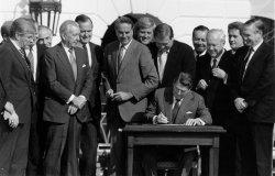 President Reagan Signs Tax Reform Bill