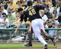 Pirate Jeff Locke Chase Hit in Pittsburgh