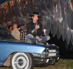 Johnny Depp Attends Glastonbury Music Festival in England