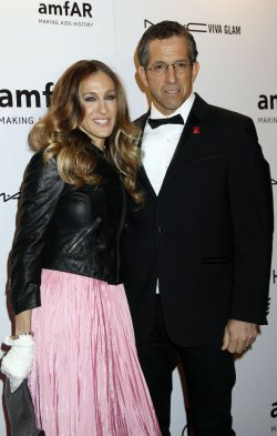 Sarah Jessica Parker and Kenneth Cole arrive for the amfAR Annual Fashion Week New York Gala in New York