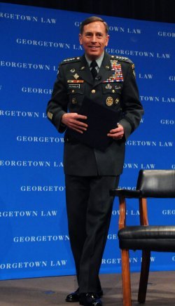 Gen. David Patraeus speaks at Georgetown University in Washington