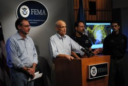 Homeland Security Secretary Chertoff speaks about Hurricane Ike in Washington
