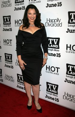 "Fran Drescher arrives for the TV Land Premiere Party for ""Hot in Cleveland"" and ""Happily Divorced"" in New York"