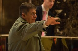 Andrew Napolitano arrives at Trump Tower