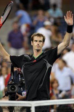 Feliciano Lopez and Andy Murray compete at the U.S. Open in New York
