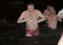 RUSSIAN VICE SPEAKER OF PARLIAMENT ZHIRINOVSKY MARKS EPIPHANY IN MOSCOW