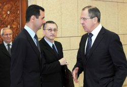President of Syria Meet a Russia's Foreign Minister
