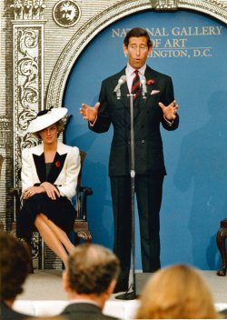 Prince Charles holds Press Conference at National Gallery of Art