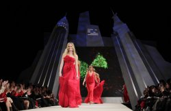 Rebecca Romijn at The Heart Truth's Red Dress Fall 2012 Collections at Mercedes-Benz Fashion Week In New York