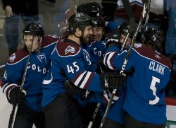 Avalanche Yip Celebrates First NHL Goal in Denver