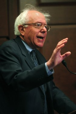 Sen. Sanders speaks out against Ben Bernanke in Washington