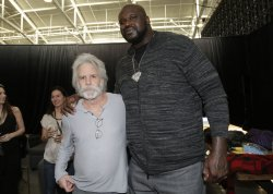 Bob Weir and Shaquille O'Neal at Wheels Up Super Bowl