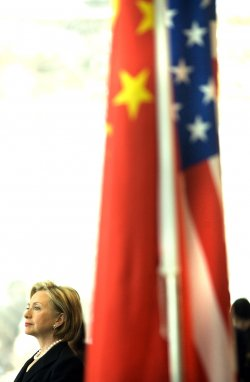Secretary of State Clinton holds press conference in Beijing