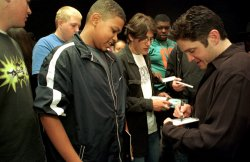 Dave Koz and friends take high school students behind the scenes at GRAMMY Session