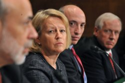 Mary Schapiro, Gary Gensler, John Walsh and Ben Bernanke testify on the Dodd-Frank Wall Street Reform Bill in Washington