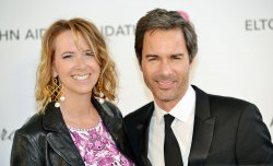 Eric McCormack and Janet Holden attend the Elton John AIDS Foundation Oscar viewing party