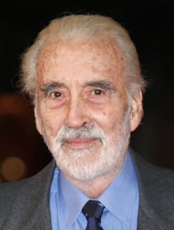 Christopher Lee arrives at the opening of the 4th Rome International Film Festival