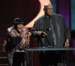 Cicely Tyson and Louis Gossett Jr. announce Viola Davis as the Outstanding Actress winner at the 43rd NAACP Image Awards in Los Angeles
