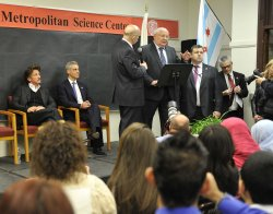 Gorbachev, Emanuel, Penn Speak to Students in Chicago