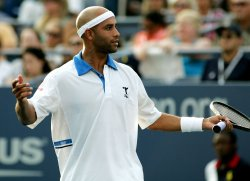 Peter Polansky and James Blake compete at the U.S. Open in New York