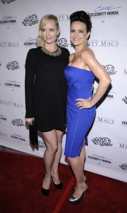 "Marley Shelton and Carla Gugino attend the premiere of ""The Mighty Macs"" in Los Angeles"