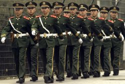 PLA SOLDIERS ON PATROL