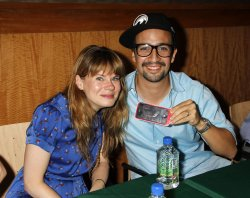 """Stephen Sondheim and the cast of """"Merrily We Roll Along"""" attend CD Signing in New York"""