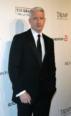 Anderson Cooper arrives for the Elton John AIDS Foundation Gala in New York