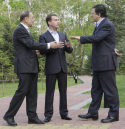 Russian President Medvedev meets with senior EU officials in Khabarovsk