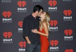 Lauren Bushnell and Ben Higgins arrive for the iHeartRadio Music Festival
