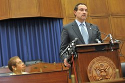 """Rep. Norton (D-DC) and Mayor Gray hold a press conference against the """"District of Columbia Pain-Capable Unborn Child Protection Act"""" in Washington"""