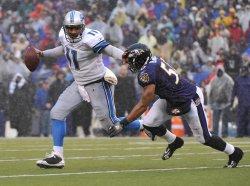 Lions' quarterback Daunte Culpepper in Baltimore