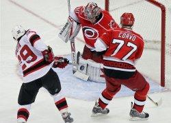 NHL Playoffs New Jersey Devils vs Carolina Hurricanes in Raleigh, N.C.
