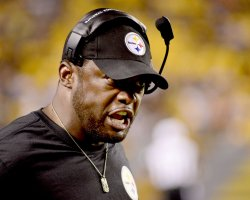 Steelers Heah Coach Mike Tomlin in Pittsburgh