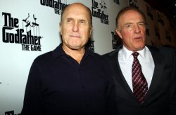 ROBERT DUVALL AND JAMES CAAN PROMOTE GODFATHER VIDEO GAME