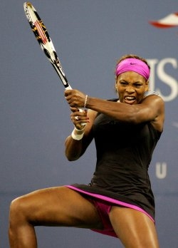 Serena Williams competes in second round at the US Open tennis in New York