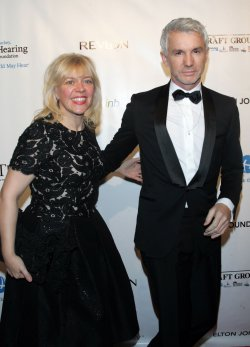 Baz Luhrmann arrives for the Elton John AIDS Foundation Gala in New York