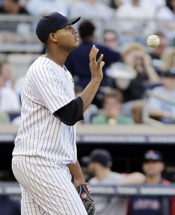 New York Yankees starting pitcher Ivan Nova at Yankee Stadium in New York
