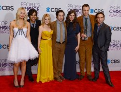 """""""The Big Bang Theory"""" wins Favorite TV Comedy award at the 39th annual People's Choice Awards in Los Angeles"""