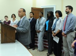Rep. Gutierrez speaks on the Uniting American Families Act in Washington