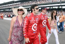 Ashley Judd with Husband Dario Franchitti and Teammate Scott Dixon with Wife Emma