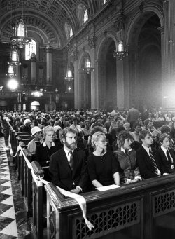 Memorial Mass for Grace Kelly, the Princess of Monaco, at St. Peter and St. Paul in Philadelphia